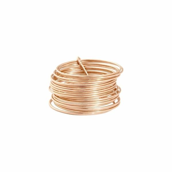 Bague Vanrycke Margherita 21 anneaux en or rose