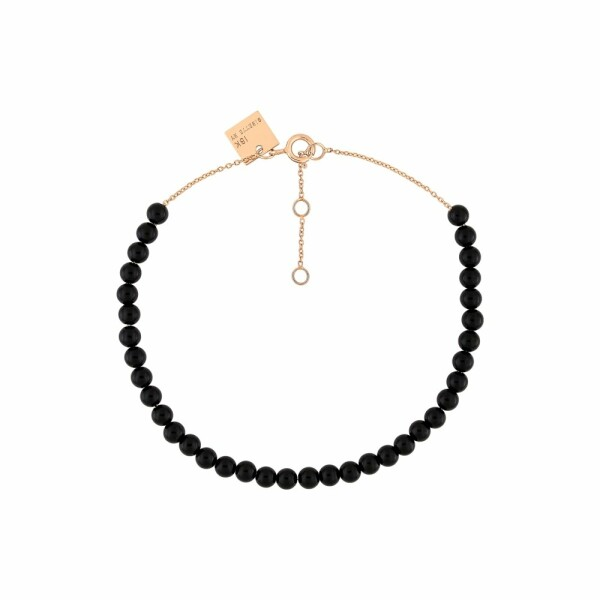 Bracelet GINETTE NY MARIA en or rose et onyx