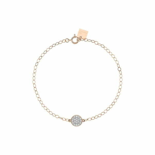 Bracelet GINETTE NY MINI EVER en or rose et diamant