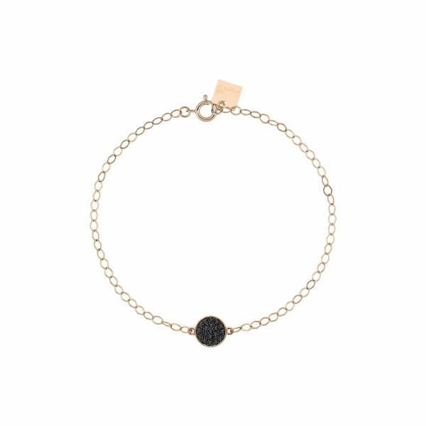 Bracelet GINETTE NY MINI EVER en or blanc et diamants noirs