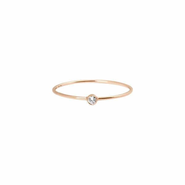 Bague Vanrycke One en or rose et 1 diamant