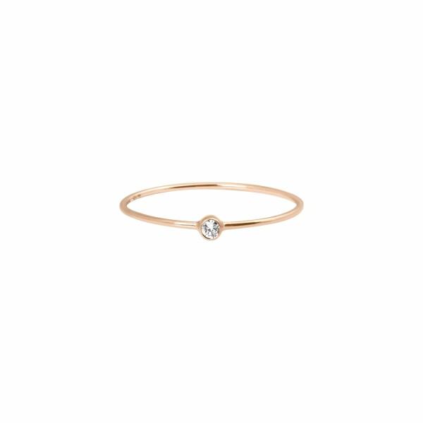 Bague Vanrycke One en or rose et 1 diamant