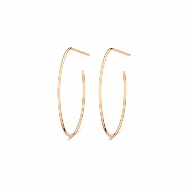 Boucles d'oreilles pendantes GYNETTE NY ELLIPSES & SEQUINS en or rose