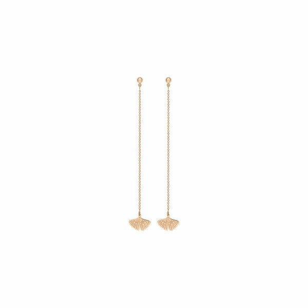 Boucles d'oreilles GINETTE NY GINGKO en or rose