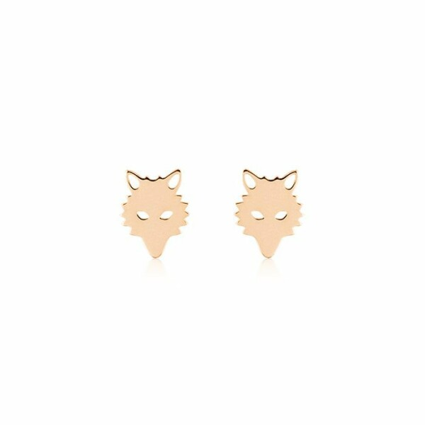 Boucles d'oreilles GINETTE NY WOLF en or rose