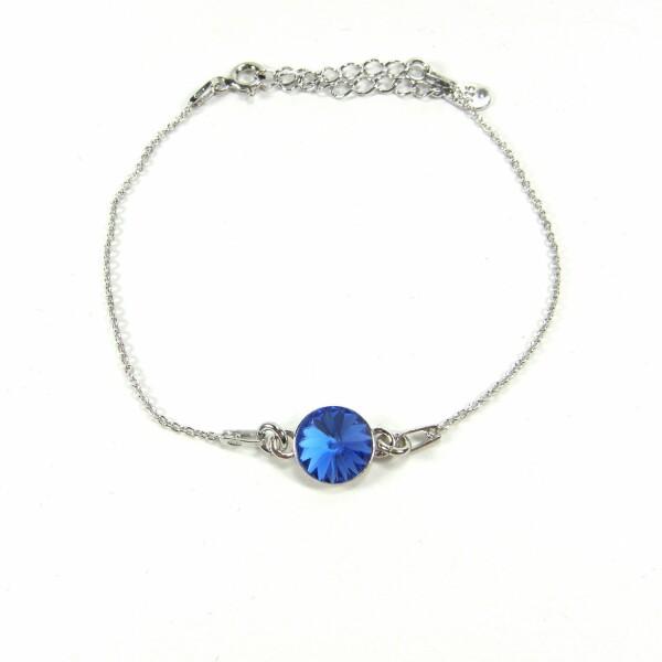 Bracelet Indicolite Emily en argent et cristaux Swarovski bleus