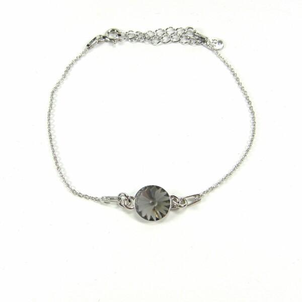 Bracelet Indicolite Emily en argent et cristaux Swarovski gris