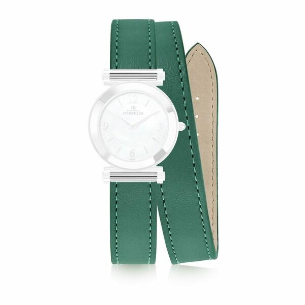 Bracelet Michel Herbelin Antarès en cuir vert
