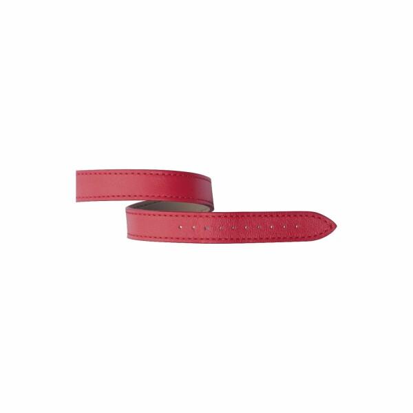 Bracelet Michel Herbelin Antarès en cuir lagon rouge pomodoro