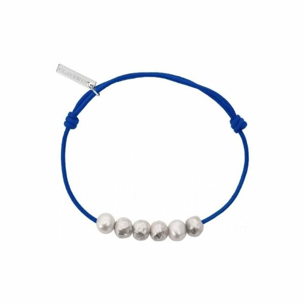 Bracelet sur cordon Claverin Unisex Cords en argent et or blanc et 58106cced34a6