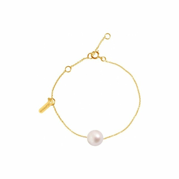 Bracelet Claverin Simply Pearly en or jaune et perle blanche