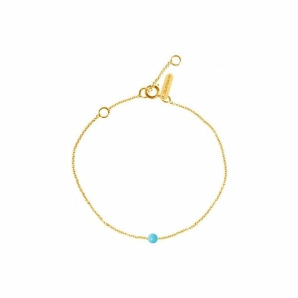 Bracelet Claverin Mini Simply Mini en or jaune et perle turquoise