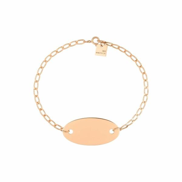 Bracelet GYNETTE NY ELLIPSES & SEQUINS en or blanc