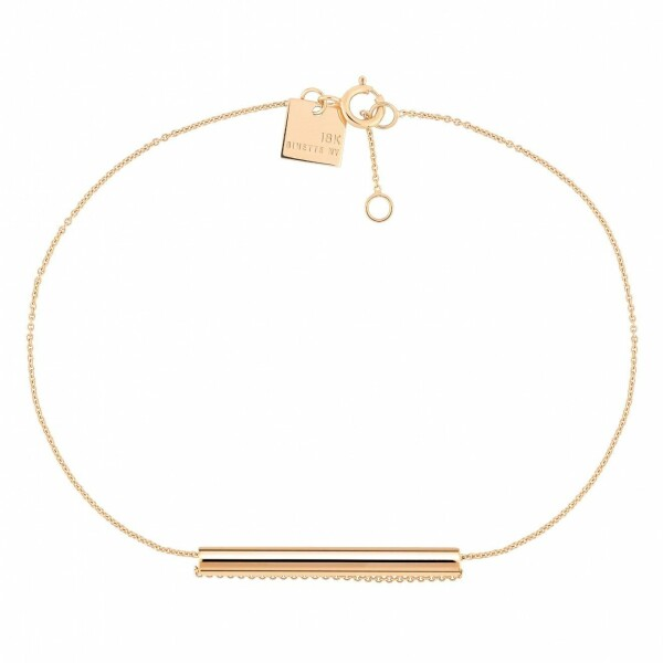 Bracelet GINETTE NY STRAWS en or rose