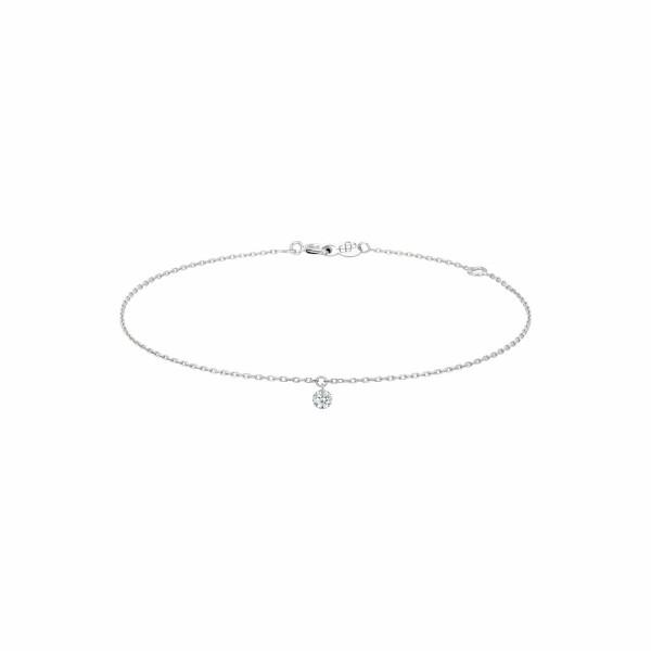 Bracelet LA BRUNE & LA BLONDE 360° en or blanc et diamant de 0.10ct