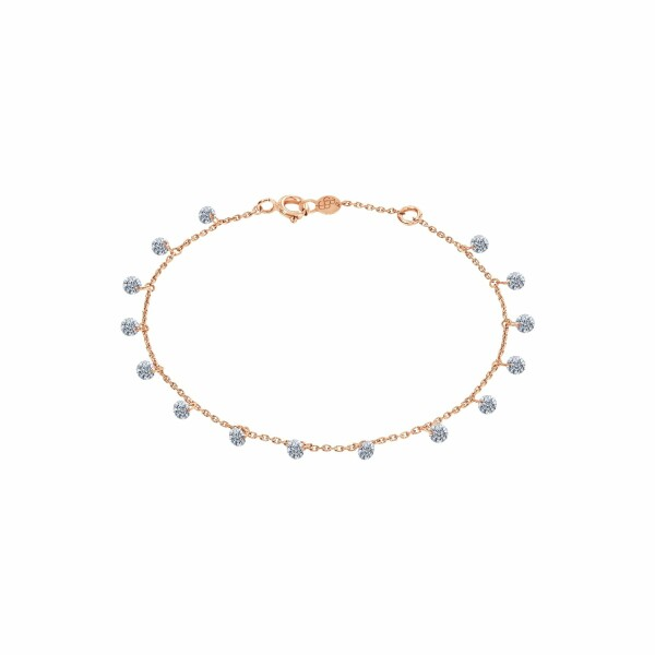 Bracelet LA BRUNE & LA BLONDE 360° en or rose et diamants de 1ct