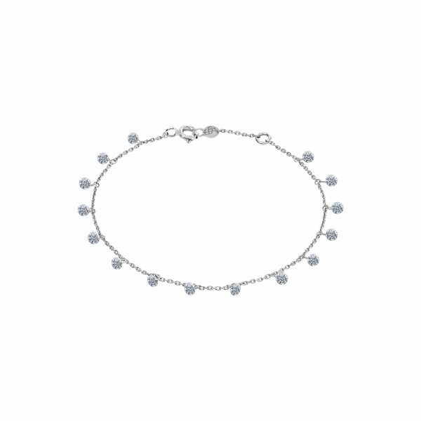 Bracelet LA BRUNE & LA BLONDE 360° en or blanc et diamants de 1ct