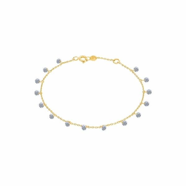 Bracelet LA BRUNE & LA BLONDE 360° en or jaune et diamants de 1ct