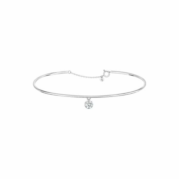 Bracelet jonc LA BRUNE & LA BLONDE 360° en or blanc et diamant de 0.30ct