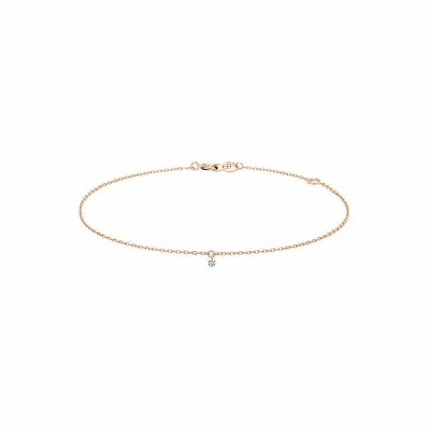 Bracelet LA BRUNE & LA BLONDE 360° en or rose et diamant de 0.07ct