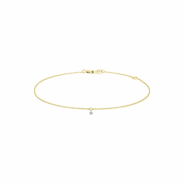 Bracelet LA BRUNE & LA BLONDE 360° en or jaune et diamant de 0.07ct