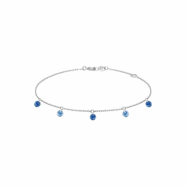 Bracelet LA BRUNE & LA BLONDE CONFETTI Bleu en or blanc et saphirs bleus de 0.65ct
