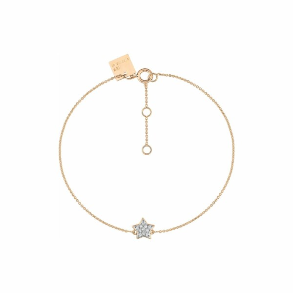 Bracelet GINETTE NY TINY DIAMS en or rose et diamant