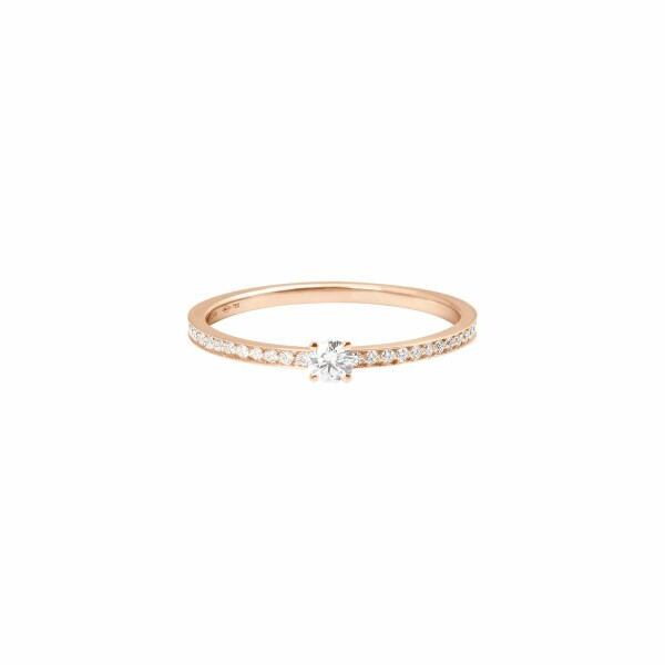 Bague Vanrycke Valentine en or rose et pavée de diamants