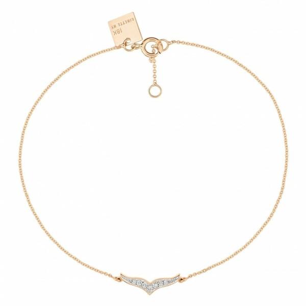 Bracelet GINETTE NY WISE en or rose et diamants