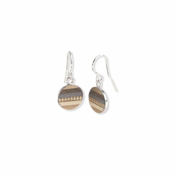 Boucles d'oreilles Flowersforzoé en cuir et acier
