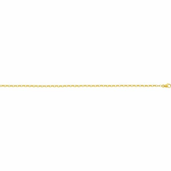 Bracelet maille jaseron ovale en or jaune