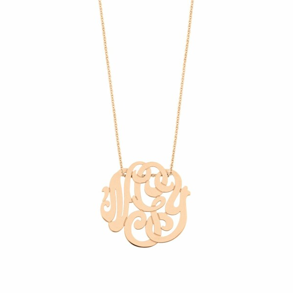 Collier GINETTE NY baby MONOGRAMS en or rose