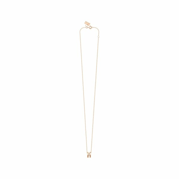 Collier Vanrycke Charlie en or rose et diamant