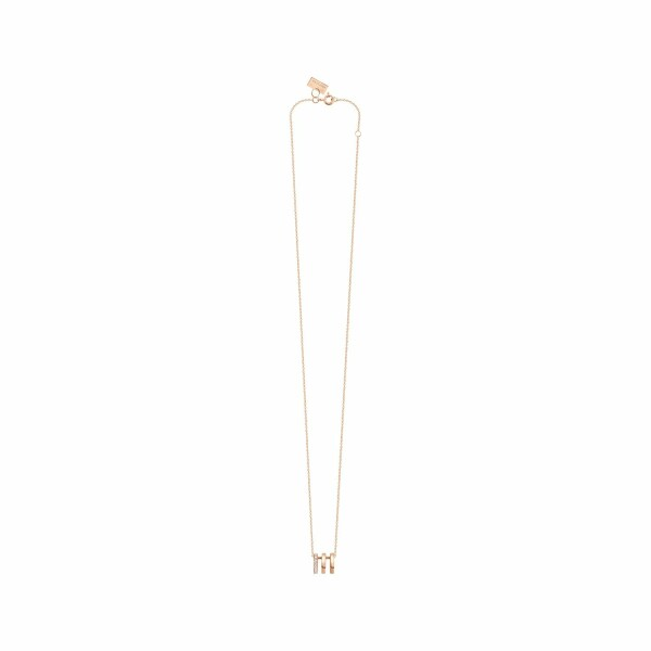 Collier Vanrycke Charlie en or rose et pavée de diamants