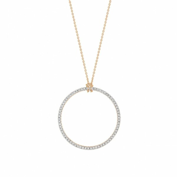 Collier GINETTE NY baby CIRCLES en or rose et diamants