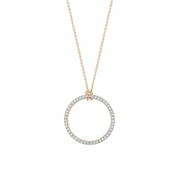 Collier GINETTE NY MINI CIRCLES en or rose et diamants