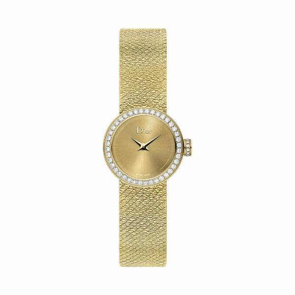 Montre La Mini D de Dior Satine or jaune 19mm