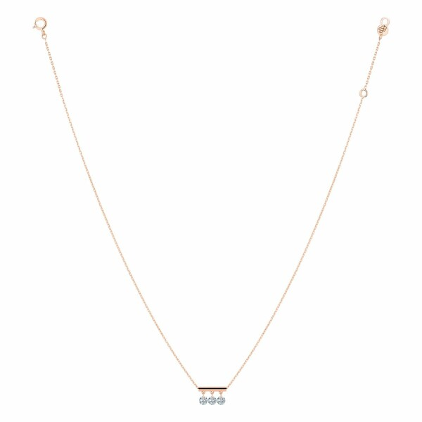Collier LA BRUNE & LA BLONDE PAMPILLES en or rose et diamants de 0.30ct