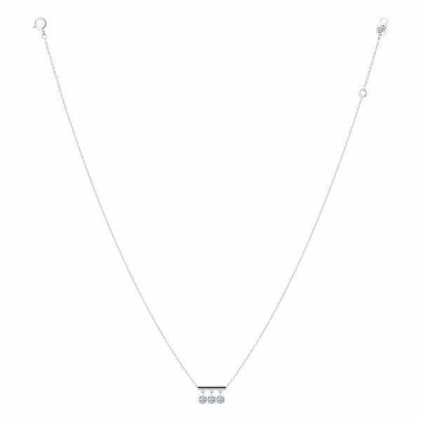 Collier LA BRUNE & LA BLONDE PAMPILLES en or blanc et diamants de 0.30ct