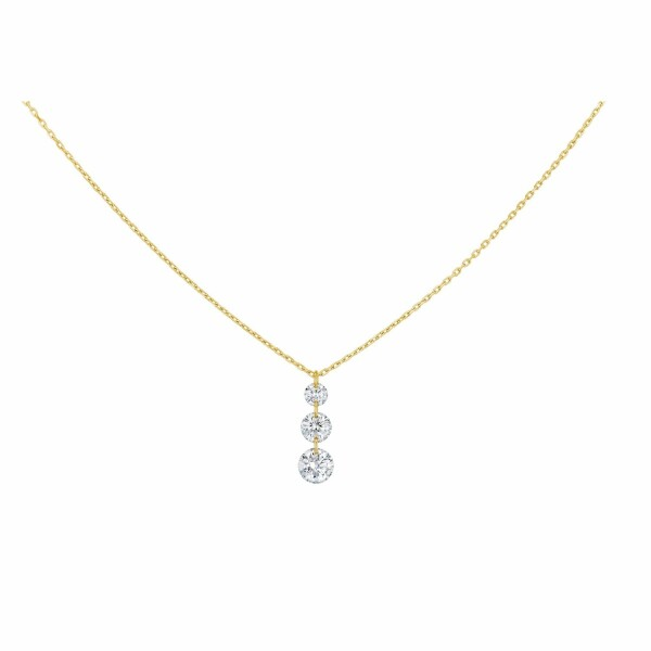 Collier LA BRUNE & LA BLONDE 360° Trio en or jaune et diamants de 0.40ct