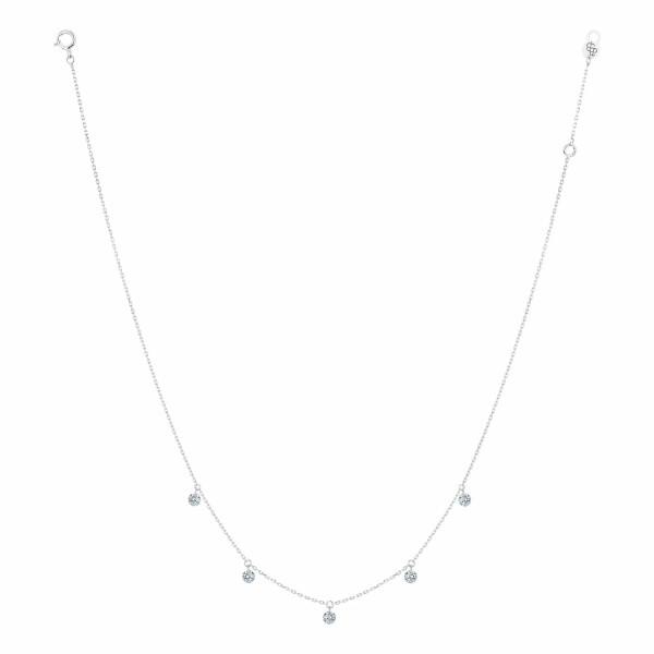 Collier LA BRUNE & LA BLONDE 360° en or blanc et diamants de 0.35ct