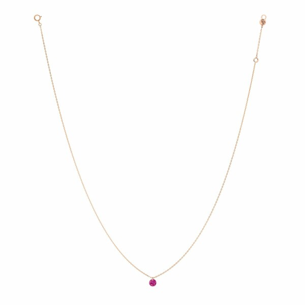 Collier LA BRUNE & LA BLONDE CONFETTI en or rose et rubis de 0.30ct