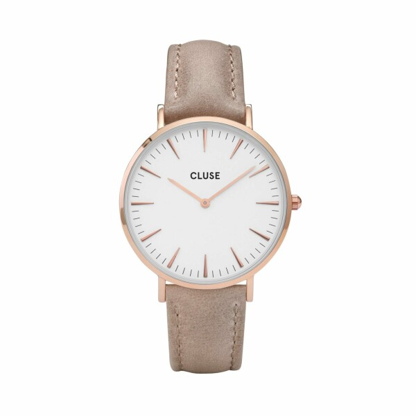 Montre Cluse La Bohème Rose Gold White/Hazelnut