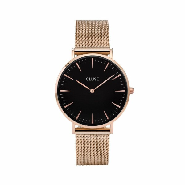 Montre Cluse La Bohème Mesh Rose Gold/Black