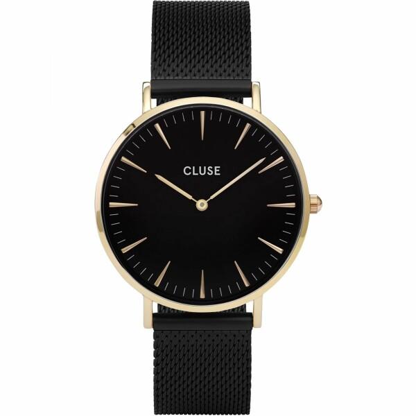 Montre Cluse La Bohème Mesh Gold Black/Black
