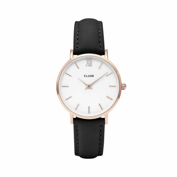 Montre Cluse Minuit Rose Gold White/Black