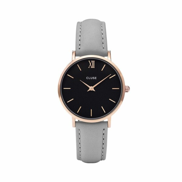 Montre Cluse Minuit Rose Gold Black/Grey