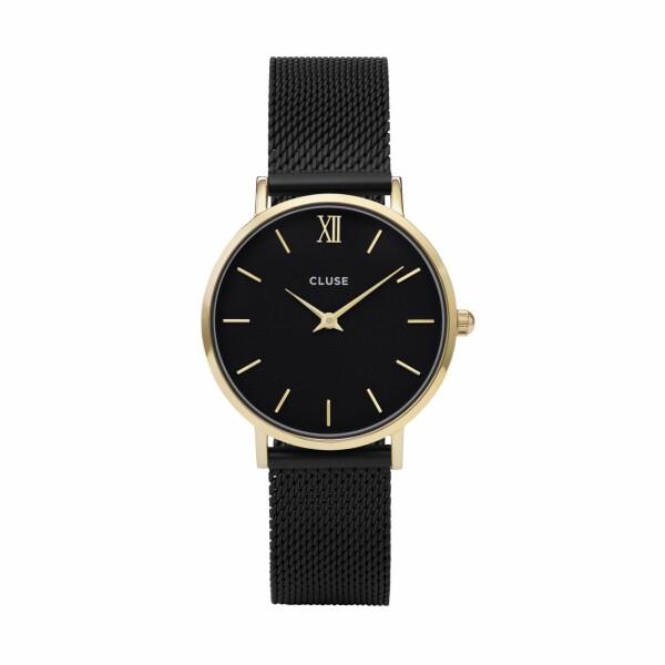 Montre Cluse Minuit Mesh Gold Black/Black