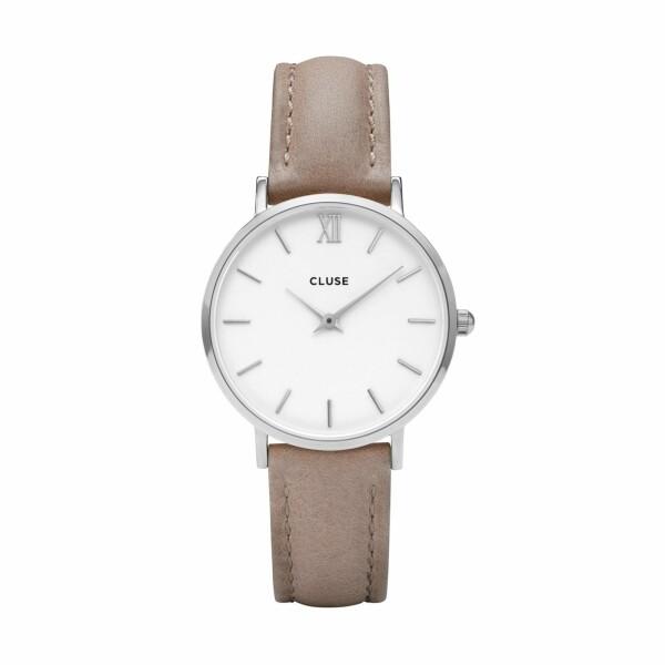 Montre Cluse Minuit Silver White/Hazelnut