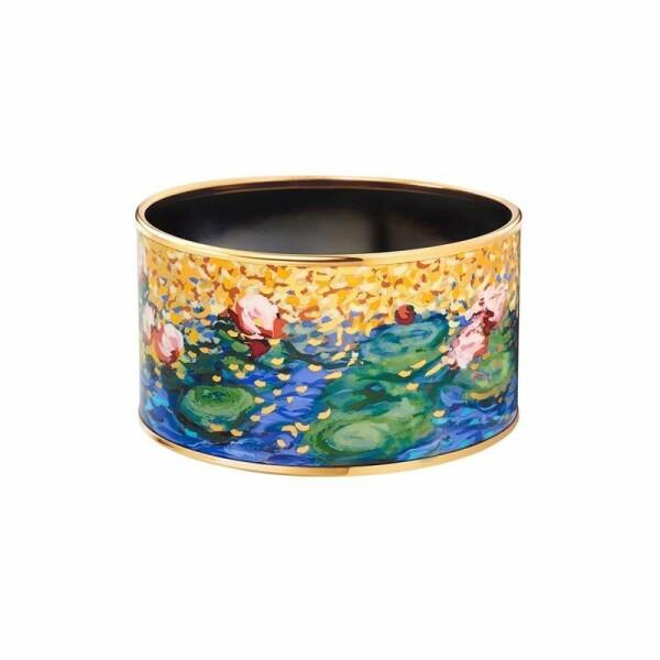 Bracelet FREY WILLE Hommage à Claude Monet Diva en email plaqué or jaune